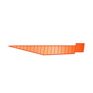 Bisco Flexi Wedge - Small, Orange - Pack 100