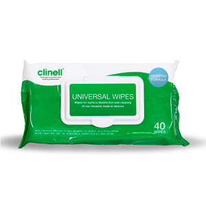 Clinell Universal Wipes - 40 Pack - Carton of 24