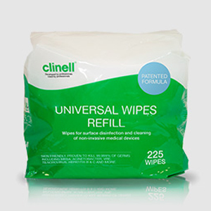 Clinell Universal Wipes - 225Wipe Bucket Refill