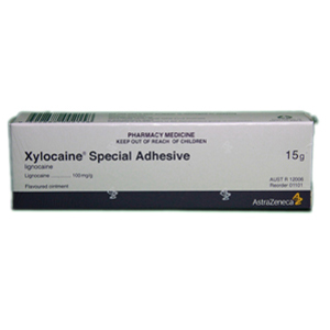 Astrazeneca Xylocaine 10% Special Adhesive Ointment 15gm, 1101