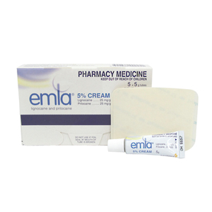 Emla Cream 5% 5gm Tube - 5 Pack with 10 Occlusive Dressings