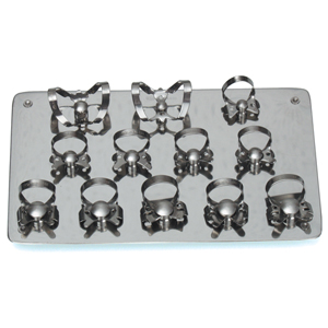 Dentech Rubber Dam Clamp Board #12 with Clamps