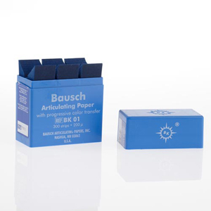 Bausch 200micron Articulating Paper - Blue 300Sheets in Dispenser, BK-01