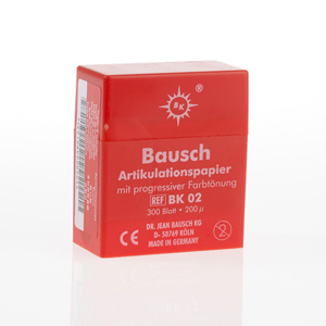 Bausch 200micron Articulating Paper - Red 300Sheets in Dispenser, BK-02
