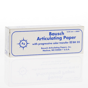 Bausch 200micron Articulating Paper - Blue 100Sheets in 3 Booklets, BK-05