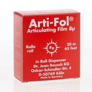 Bausch Arti-Fol Plastic 8micron 22mm one-sided 20m - Red Dispenser, BK-21