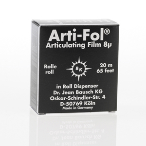 Bausch Arti-Fol Plastic 8micron 22mm 2-sided 20m - Black, BK-24
