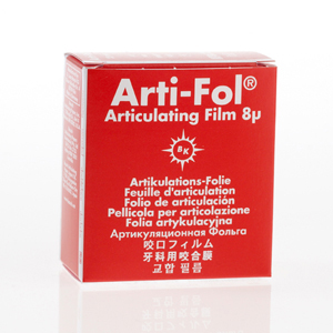 Bausch Arti-Fol Plastic 8micron 22mm 2-sided 20m - Red, BK-25