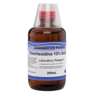 Dentalife Chlorhexidine 10% Solution Amber Glass 200ml Bottle