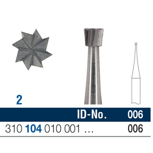 Ela Steel Bur HP Inverted Cone Fig 2 006 - Pack 10