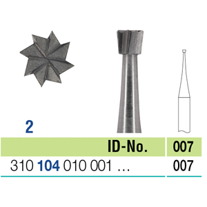 Ela Steel Bur HP Inverted Cone Fig 2 007 - Pack 10