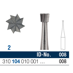 Ela Steel Bur HP Inverted Cone Fig 2 008 - Pack 10