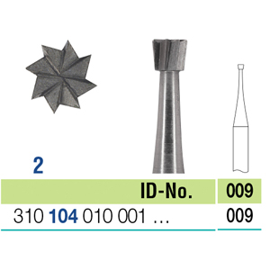 Ela Steel Bur HP Inverted Cone Fig 2 009 - Pack 10