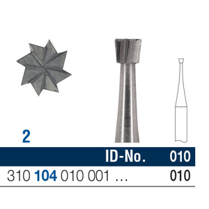 Ela Steel Bur HP Inverted Cone Fig 2 010 - Pack 10