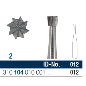 Ela Steel Bur HP Inverted Cone Fig 2 012 - Pack 10