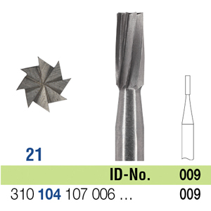 Ela Steel Bur HP Fig 21 009 - Pack 10