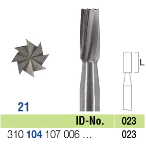 Ela Steel Bur HP Fig 21 023 - Pack 10
