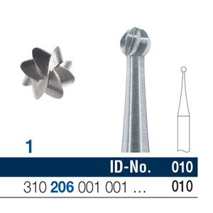 Ela Steel Bur RA Surgical Round Fig 1 010 - Pack 10