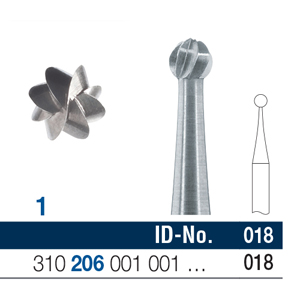 Ela Steel Bur RA Surgical Fig 1 018 - Pack 10