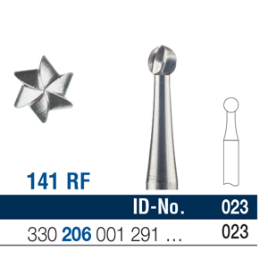 Ela Steel Bur RA Surgical Fig 141 023