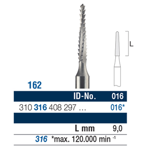 Ela Carbide Bur FG Surgical Fig 162