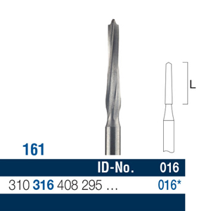 Ela Carbide Bur FG Surgical Fig 161