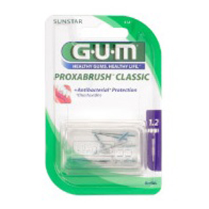 Gum Proxabrush Refill Brushes, 1.2mm Extra Fine Cylindrical, 512 - Pack 8