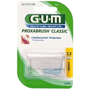 Gum Proxabrush Refill Brushes, 1.3mm Extra Fine Tapered, 514 - Pack 8