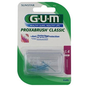 Gum Proxabrush Refill Brushes, 1.4mm Fine Cylindrical, 612 - Pack 8