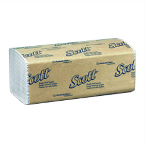 Kleenex Scott Interfold Towel - White 26.6x23.6cm, Pack 250, 1742 - Ctn 16