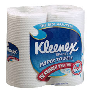 Kleenex Kitchen Towel - White 60 Sheets per Roll, 4430C - 6 Twin Packs