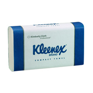Kleenex Compact Towel - White 29.5x19cm, 90 Sheets, 4440D - 24 Packs