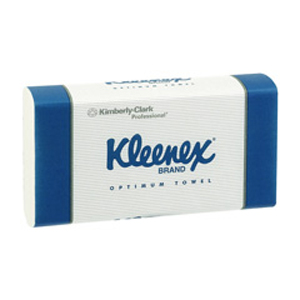 Kleenex Optimum Hand Towel - White 30.5x24cm, 120 Sheets, 4456 - 20 Packs