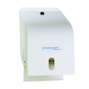 Kimberly Clark Roll Towel Dispenser - White Enamel, 4941