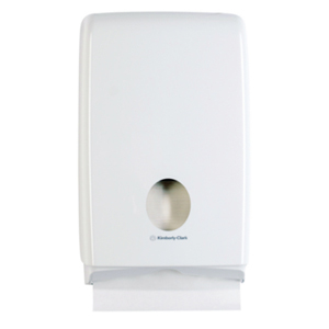 Kimberly Clark Aquarius Compact Towel Dispenser - White, Plastic, 70240