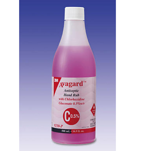 3M Avagard Antiseptic Hand Rub with Chlorhexidine Gluconate 0.5%, 9250-P - 500ml