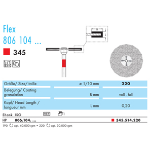NTI Diamond Disc Flex HP 345 220 Fine - Each