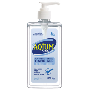 EGO Aqium Antibacterial Hand Sanitizer - 375ml Bottle