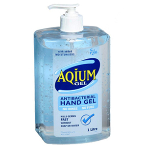 EGO Aqium Antibacterial Hand Sanitizer 1 Litre Bottle