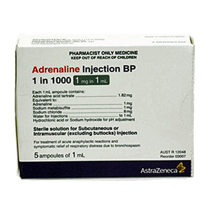 Adrenalin 1:1000 Ampoules 1ml - Pack 5