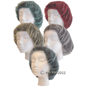 "Pro-Val Bouffant Caps (headcovers 21"") White x 1000"