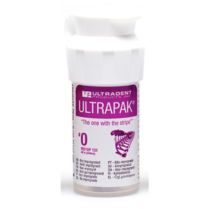 Ultradent Ultrapak Retraction Cord Size 0 Non Impregnated, 0131, Purple 8ft