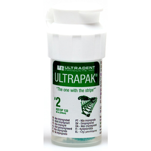 Ultradent Ultrapak Retraction Cord Size 2 Non Impregnated, 0133, Green 8ft