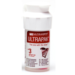 Ultradent Ultrapak Retraction Cord Size 3 Non Impregnated, 0134, Red 8ft