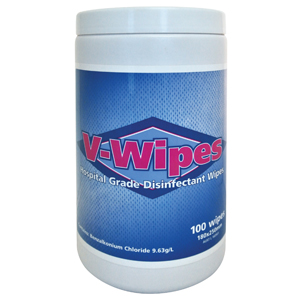 V-Wipes Hospital Grade Disinfectant 100wipes - Tub