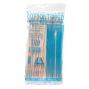 100/Pack Livingstone Cotton Woodern Applicator